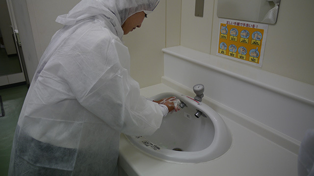 徹底的に手洗い。