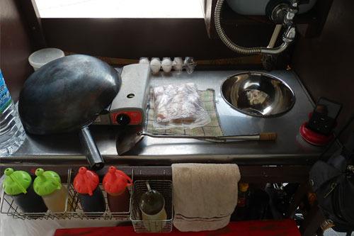 調理が終わると再びきれいに片づける