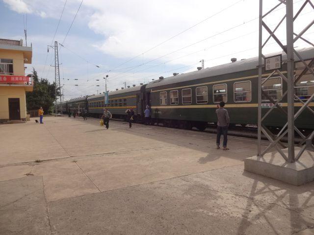 駅だった!列車が止まっていた!