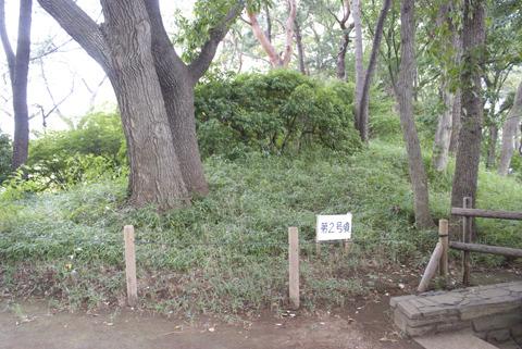 亀甲山古墳とは違い簡単な柵に囲われただけのカジュアルな古墳