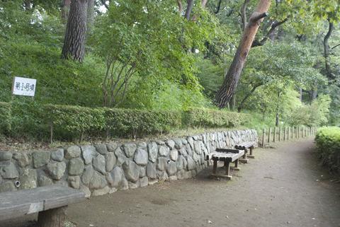 古墳の周囲に整備された遊歩道