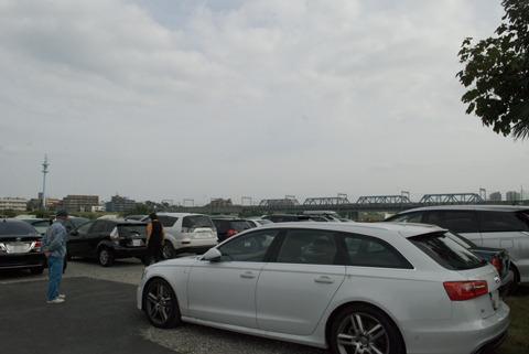 駐車場も満車