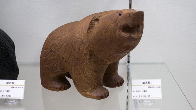 木彫りの熊には作家性ありまくりだった