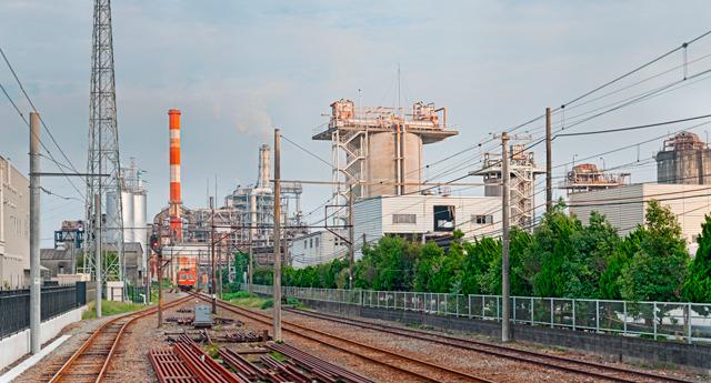 岳南鉄道「岳南原田駅」から見えるすばらしい光景!(大きな写真はこちら)