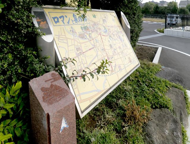 いいな、と思ったのはその岳南原田駅前にある観光案内版。