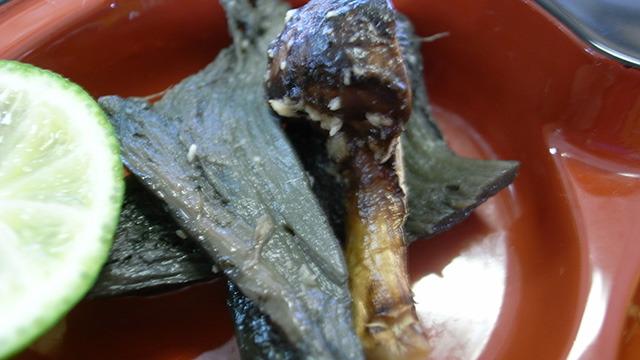 焼き松茸とロージ茸の生姜和え