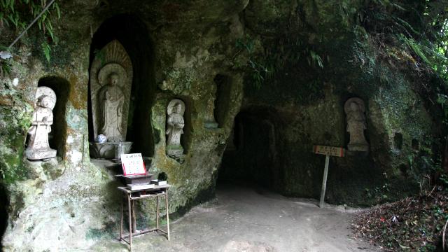 地獄洞窟と極楽洞窟を巡って極楽浄土に辿り着くという、江戸時代の体験型アトラクション