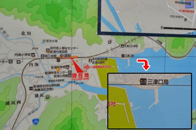 地図ではただの防波堤にしかみえない