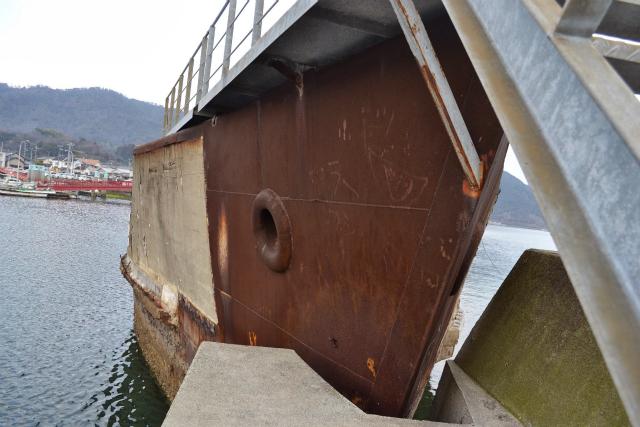 船首部分は補強のため、鉄板で覆われていた