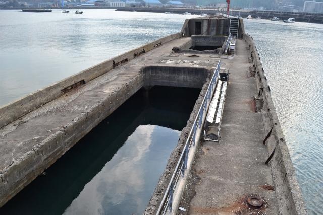 船倉には水がたまっていた