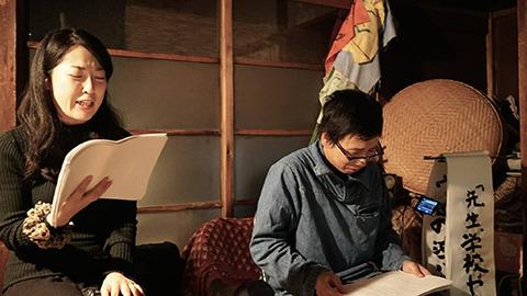 女優さんの朗読を入れよう。松村翔子さんという舞台女優の方がこの前ウソの泣ける話の朗読会(泣ける話好きが高じてそんなのもやってるんです)で読んでくれた