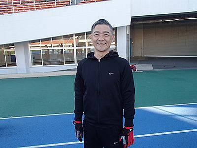 同じ組だった坂田さん46歳。フィンスイミング歴20年。四足走行も早かったです。