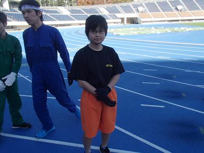 広島からきた15歳の女の子。器械体操歴8年、バトミントン歴2年半だそうです。凄く早かった。