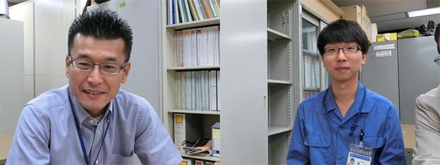 橋梁課長の菊地健次氏(左)と居山拓矢(いやま・たくや)氏