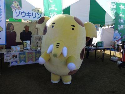 埼玉県新座市のゾウキリン。新座に雑木林が多いから作られたというキャラ。ダジャレかよ! 嫌いじゃない。嫌いじゃないけども!