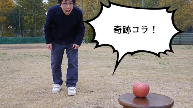 不可能だと思われていた無農薬育成『奇跡のリンゴ』のことだろうか