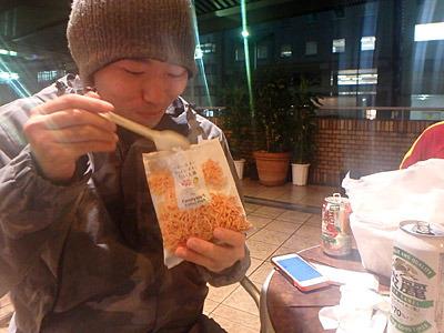 「やばい、太麺最高!」