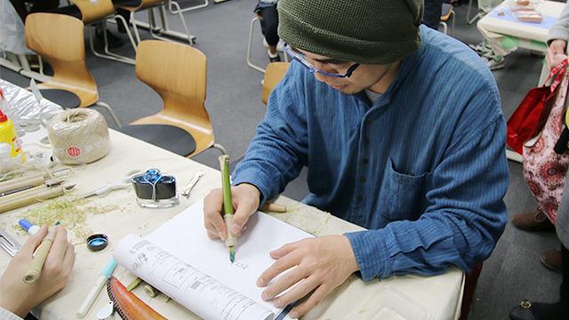 東京理科大で竹ペンを作ってきました。