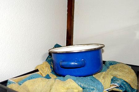 当然のごとくお鍋が常備されています
