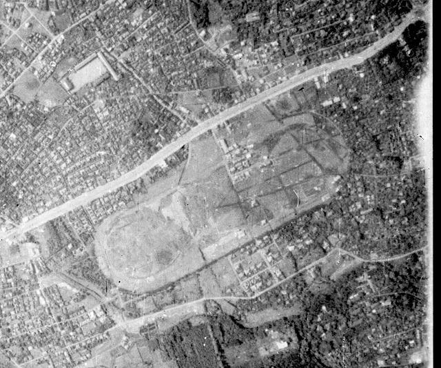 廃止された3年後1936年の様子(国土地理院「地図・空中写真閲覧サービス」より・整理番号・B8/コース番号・C1/写真番号・21/撮影年月日・1936/06/11(昭11))