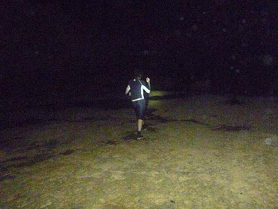 夜、ライト片手に遠浅の海を練り歩く「イザリ」は沖縄ではそこそこポピュラーな遊漁。