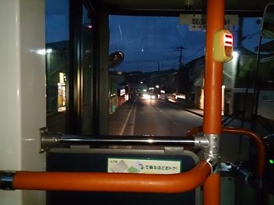 不案内な土地でバスに乗っている途中に日が暮れると、ここからもう戻れなくなるような気持ちになってしまう。恐かった