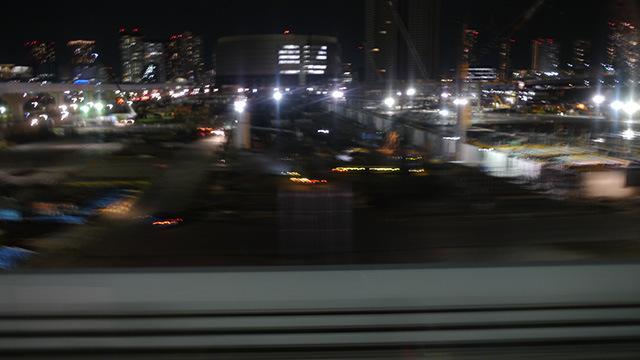 撮影場所のリングに向かう電車から見えた風景。