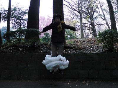 綿を足元につけて飛べば浮いてるように見えるかと思ったけど、見えなかった