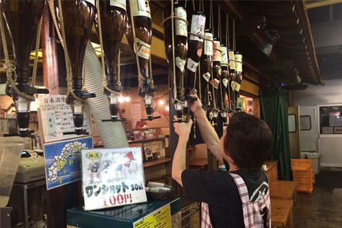日本酒はワンショット100円