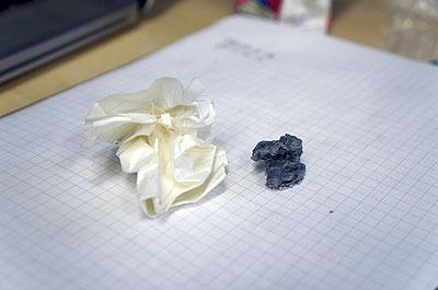 丸めた紙クズの3Dプリントに成功