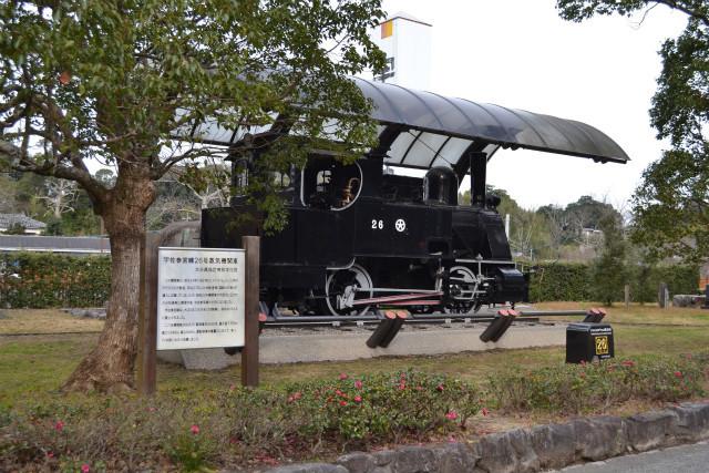 状態の良い小型の蒸気機関車