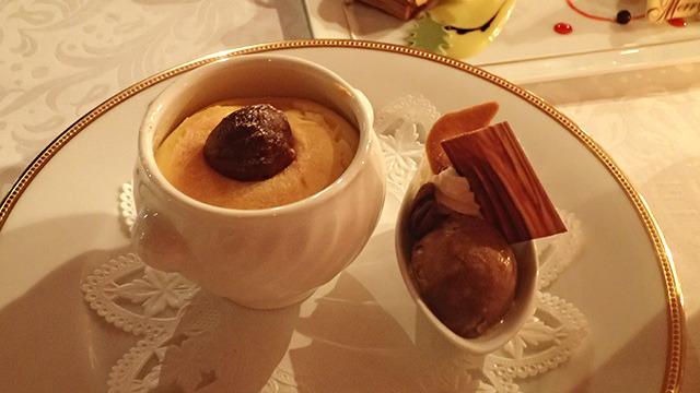 """幸せの魔法がかかった「銀座のあったか壷チーズケーキ""""マロン""""コーヒーまたは紅茶付」1980円"""
