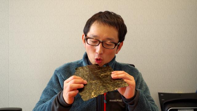 そのまま海苔を食べるのがすごく好き
