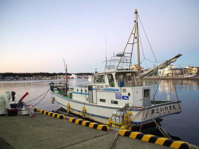 いわき丸という船宿から、アコウダイという高級な深海魚を釣りにやってきました。
