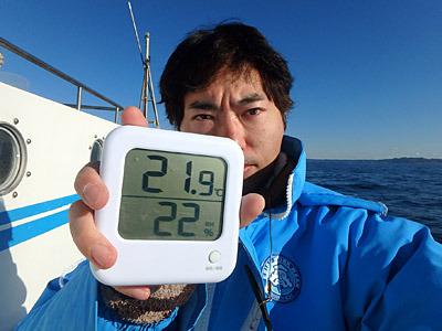 まさかの20度越え。でも寒い日に当たると、本当に体の芯まで冷え切るから気を付けてね!