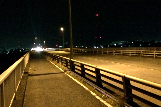 そして、夜中0時近くの相模川