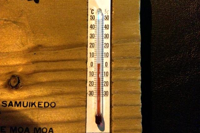 気温は――2度である