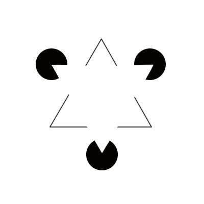 ないはずの三角形が見える。
