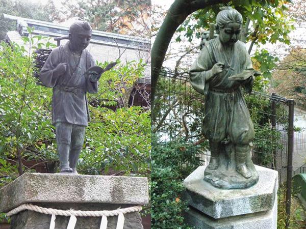 着物の例(左)、はかまの例(右)