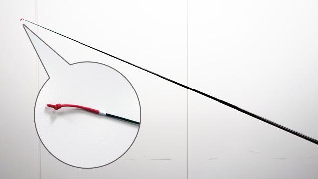 竿の先に糸がついているだけのシンプルな竿