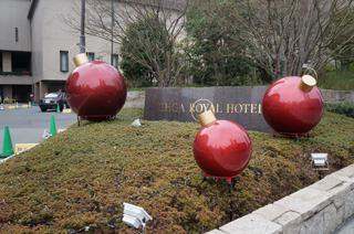 リーガロイヤルホテルの飾りがギャグ漫画の爆弾っぽい