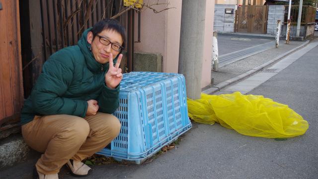 ゴミ捨て場のカゴ記念(ここでも犬が吠えてた)