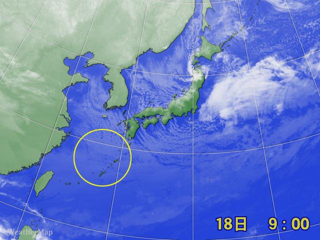 2012年2月18日9時の気象衛星画像