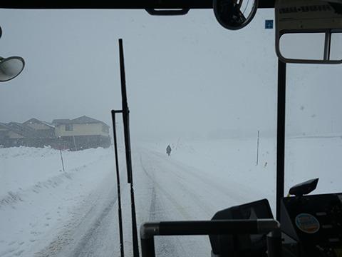 バスで1時間近く。地名に「雪」がつくところを抜けたり