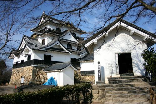 姫路城ほどではないけど、こちらも多くの建物が残る「彦根城跡」