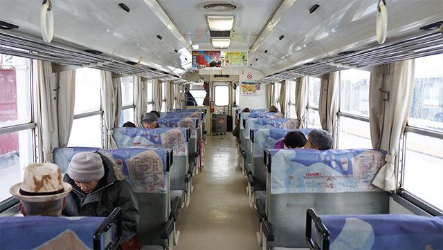 自分入れて10人くらいの乗客数だった