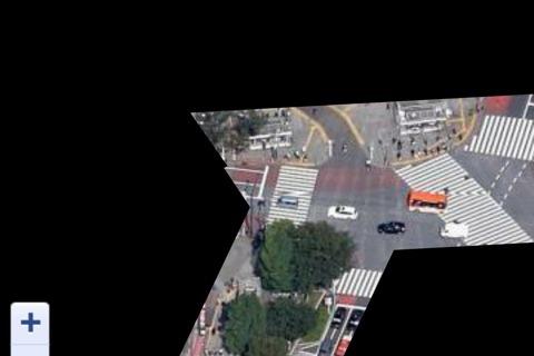 スマホの画面。スクランブル交差点ぽい。