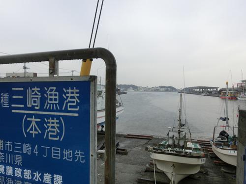 目の前は港、そして海