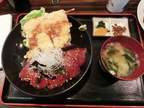 まぐろ漬けトロ天丼、1620円