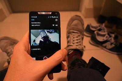 スマートフォンでプレビュー。こんなふうに撮れてる
